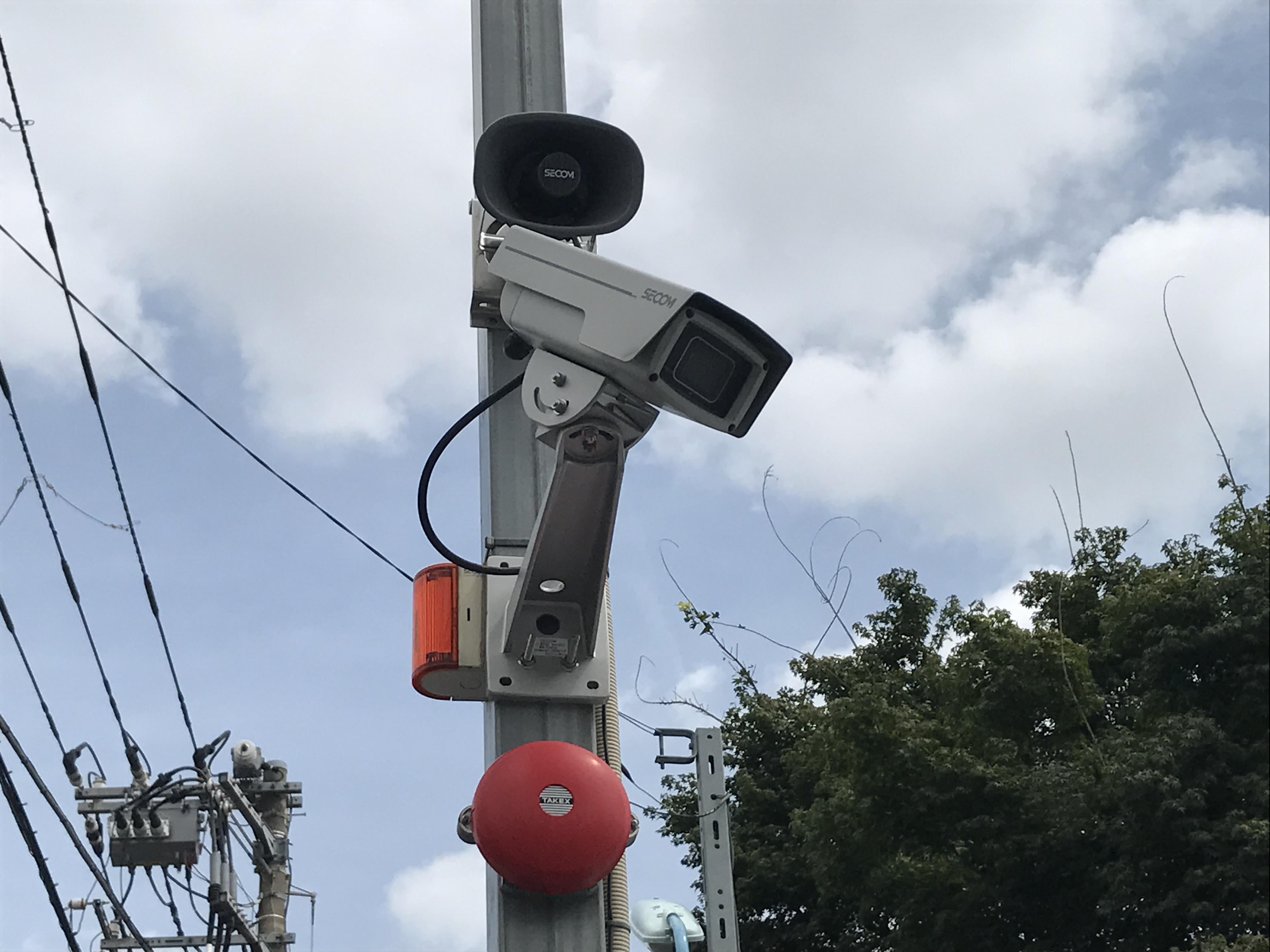 杉並桃井店(バイクガレージ) 監視カメラも設置されています