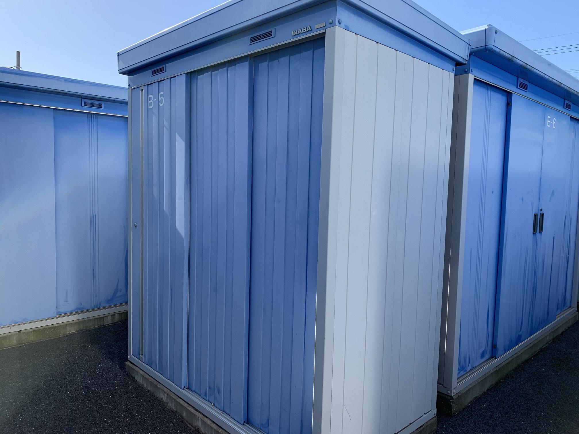 千葉桜木店 様々な大きさのトランクルームが用意されています