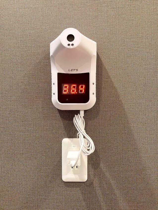INABA96今池店 体温測定器もあります
